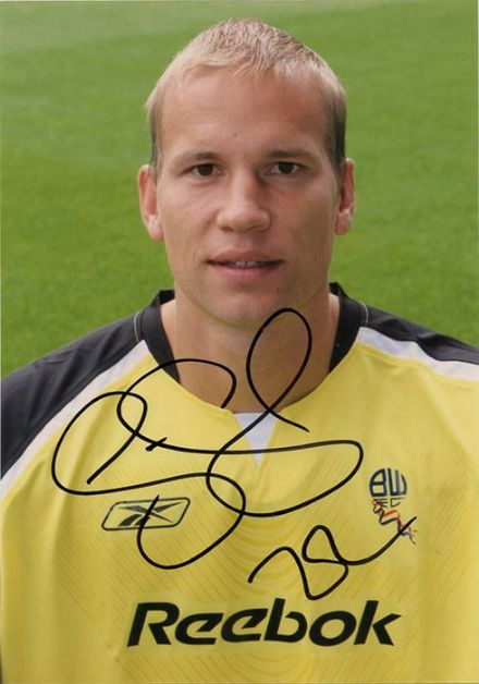 Jussi Jaaskelainen, Bolton Wanderers, Finland, signed 5.0x3.5 inch photo.